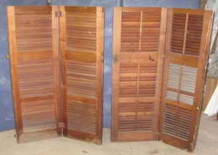 Antique Shutters For Sale Details For Antique Solid Chestnut Wood Shutters 8 Shutters 4