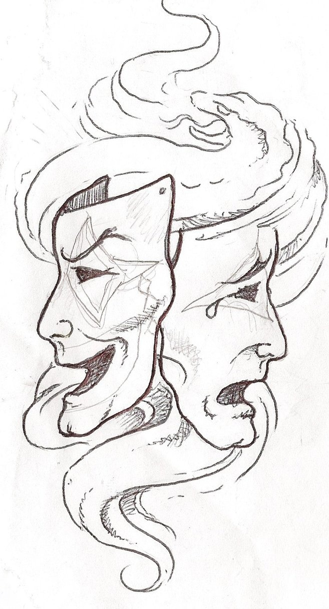 stencils to print | Smile Now Cry Later Tattoo Stencils | How To Draw Caricatures - How To ...