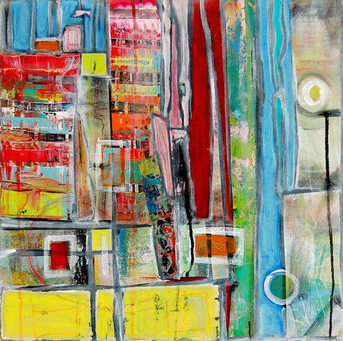 26 best images about peinture abstraite on pinterest - Peinture avec effet texture ...
