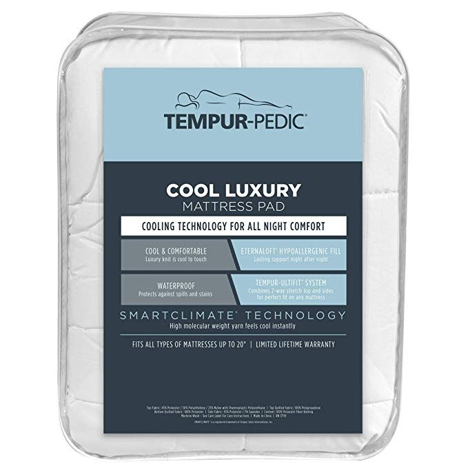 Tempur Pedic Performance Luxury Fitted Mattress Pad Cool