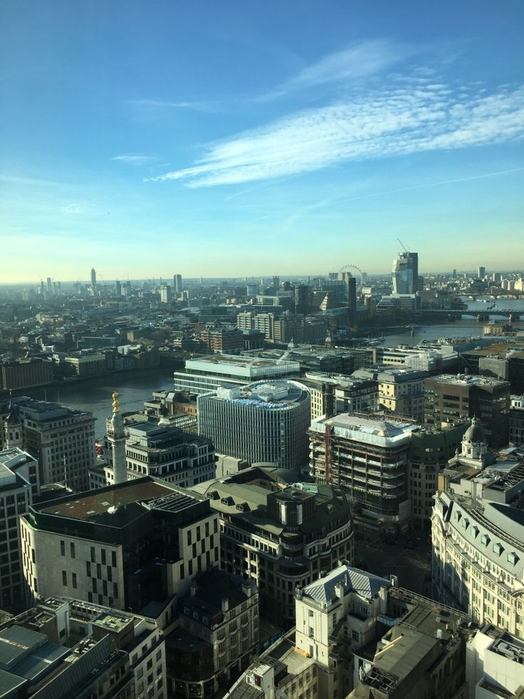 Scenic view of London sent to me by my daughter from a high rise building