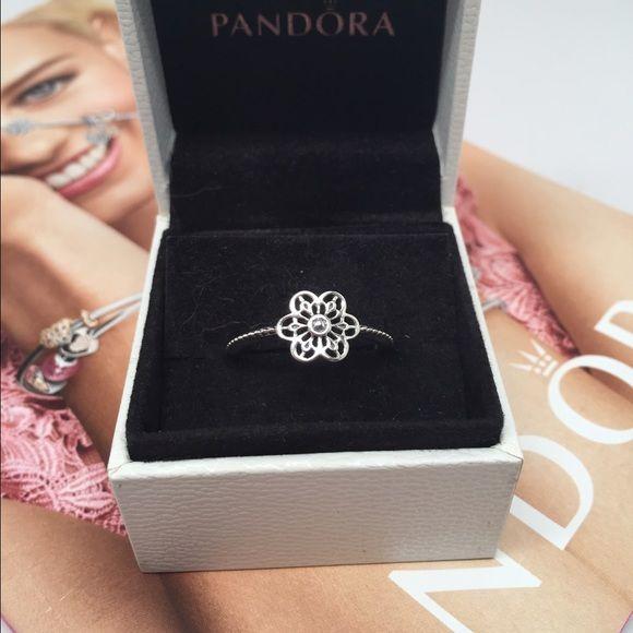 193f75440 comPandora-Radiant-Elegance- Pandora floral Daisy lace ring. Pick a size  New pandora ring Pandora Jewelry Rings ...