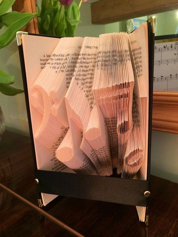 Book folding pattern for Musical notes FREE by BookFoldingForever