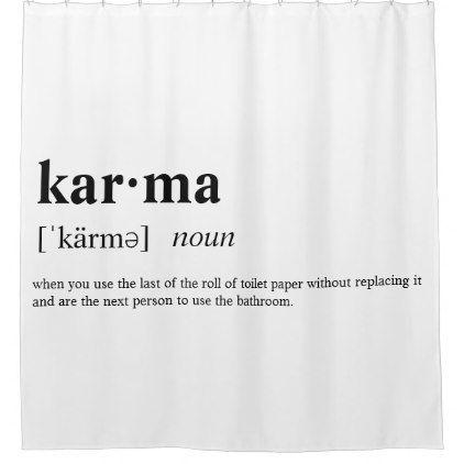 Karma Shower Curtain - college dorm gifts student students accessories freshmen
