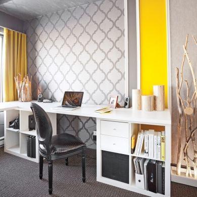 Accord jazzé dans le bureau - Bureau - Inspirations - Décoration et rénovation - Pratico Pratiques