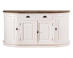 Dekoria Komoda Brighton 4 drzwi + 2 szuflady white&natural, 170x52x87cm