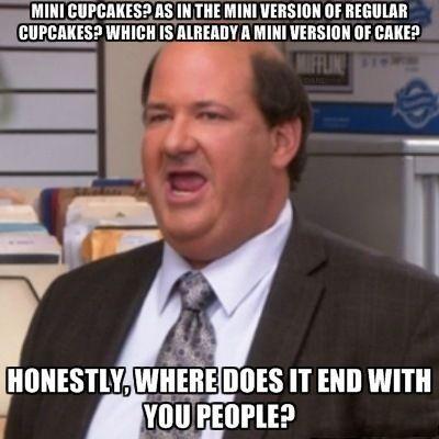 Kevin the office meme Mini Cupcakes