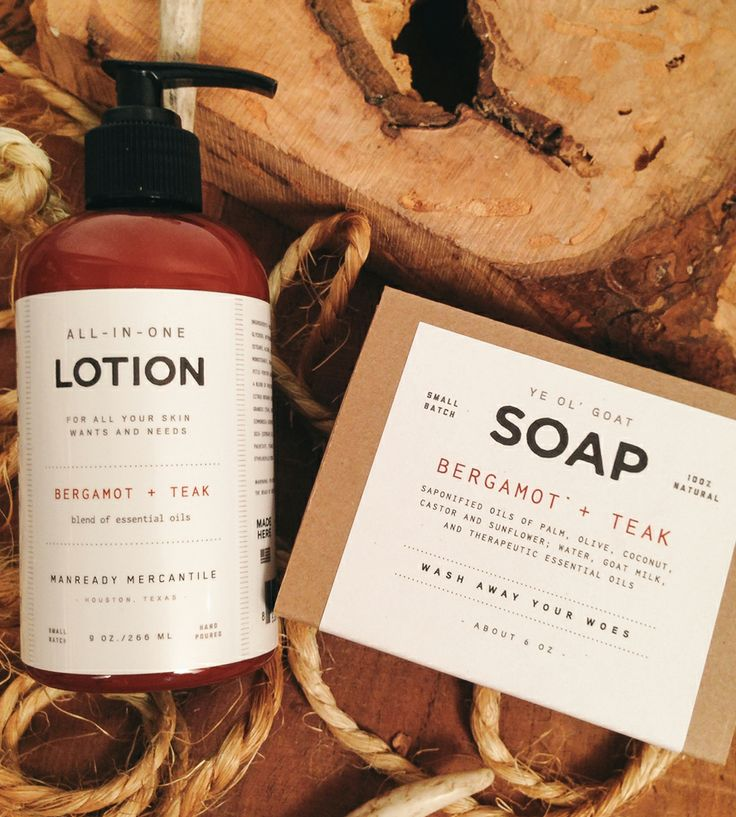 Bergamot & Teak Ye Ol' Goat Soap & All-In-One Lotion -smells so amazing