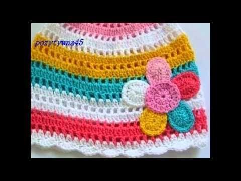Szydełkowe czapki dla dzieci