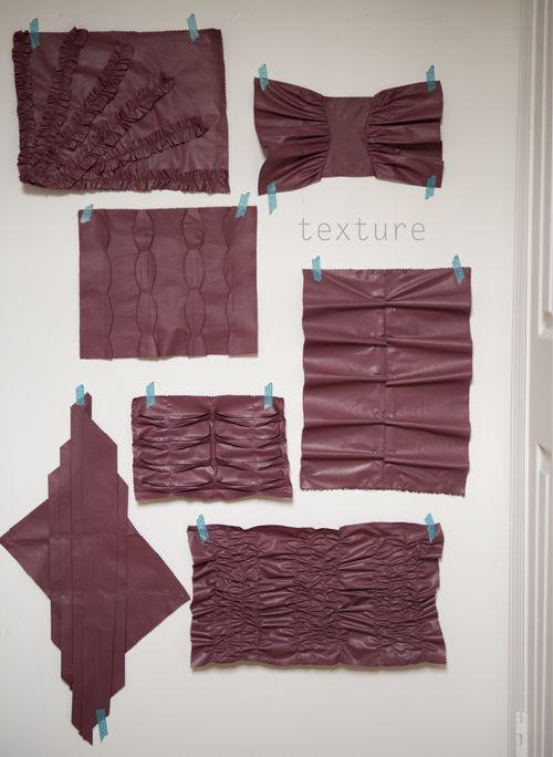 manipulation de tissu