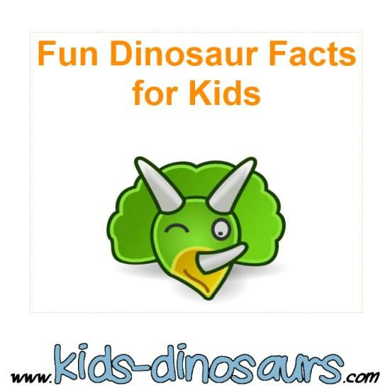 Fun Dinosaur Facts for Kids. Pictures and information about dinos. www.kids-dinosaurs.com
