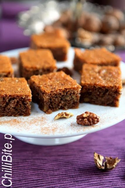 ChilliBite.pl sprawdzone przepisy kulinarne ze zdjęciami : Greckie ciasto orzechowe - karydopita