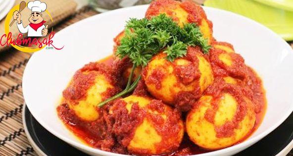 Resep Hidangan Lauk, Telur Bumbu Merah, Club Masak