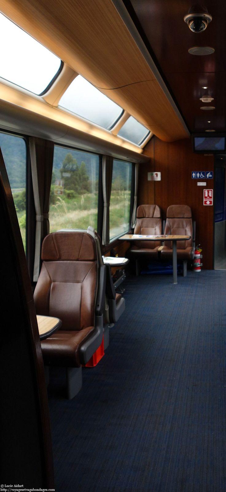 A l'intérieur d'un wagon panoramique dans le Transalpin en Nouvelle-Zélande