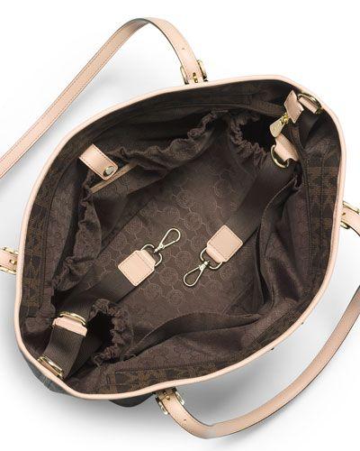 Michael Kors diaper bag inside