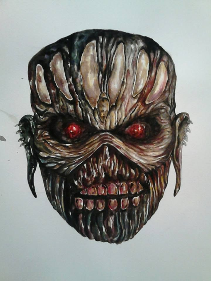 Eddie - Iron Maiden    (watercolor)