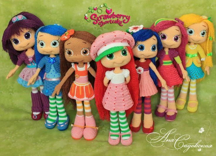 Amigurumi Strawberry Doll Pattern : strawberry shortcake amigurumi Anya Sadovskaya Amigurumi ...