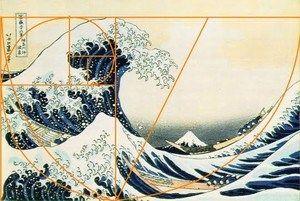 Hokusai kultainen leikkaus