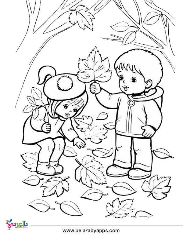 رسومات للتلوين عن فصل الخريف جاهزة للطباعة 2020 بالعربي نتعلم Coloring Pages For Kids Female Sketch Coloring Pages