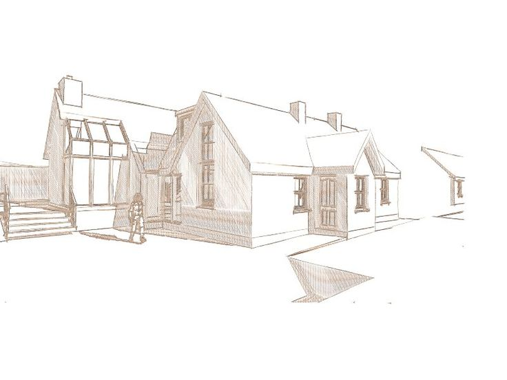 This is a sketch of my design proposal (that I got planning permission for) to extend a small cottage in Greenan, Co. Wicklow.