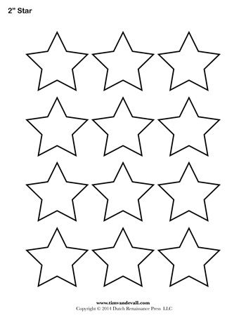 A printable star template sheet.