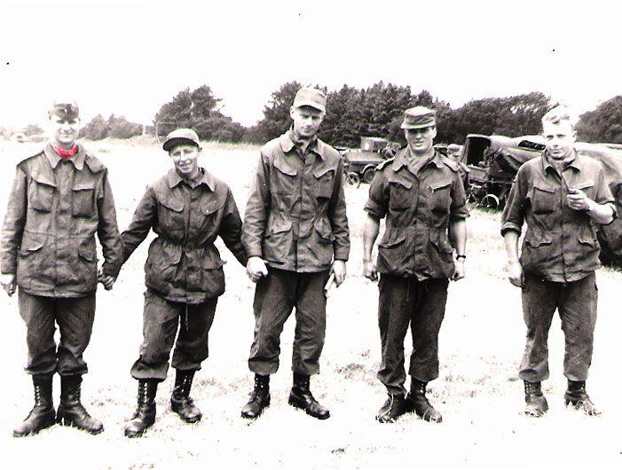 """330 Weile """"generalen"""" 402 Jørgensen, Løjtnant Christiansen, 309 Christensen og 297 Ostesen"""