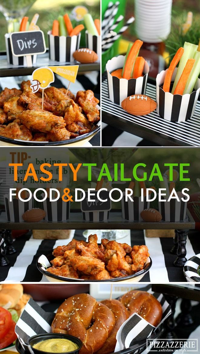 Get inspired for your big game tailgating and football parties with these totally fun food and decorations ideas your friends will be talking about into the next kick-off season!