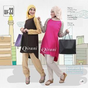 Baju Atasan Wanita Tunik Qirani Fresh Model QDF 33