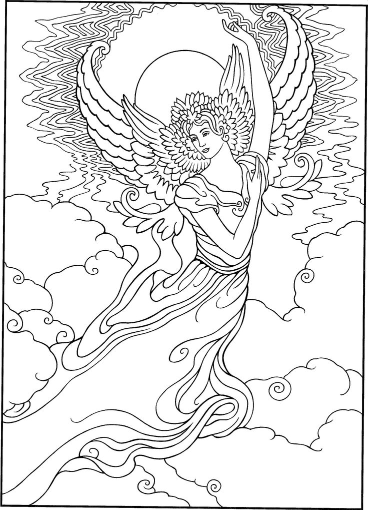 warrior angel coloring pages - photo#14