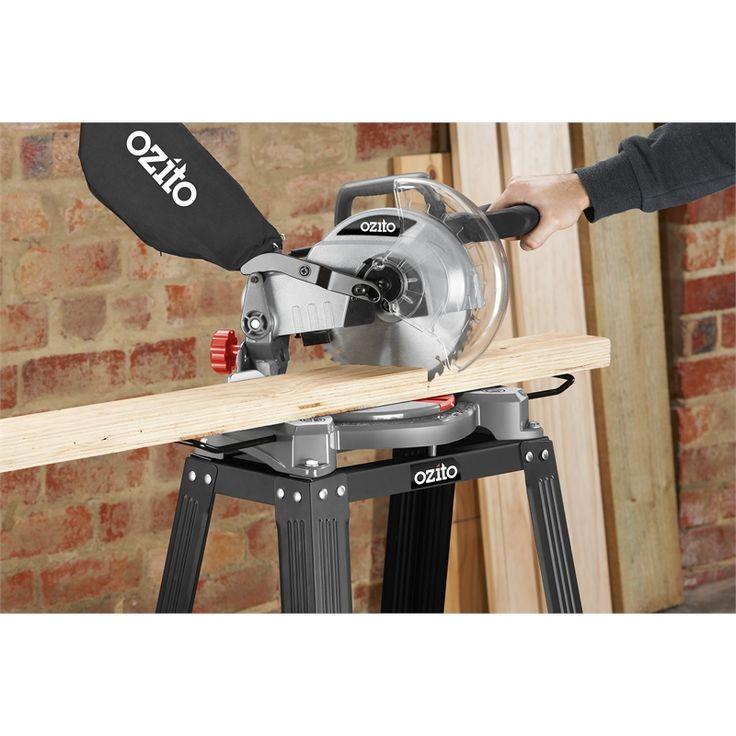 Ozito 1500W 210mm Compound Mitre Saw & Stand