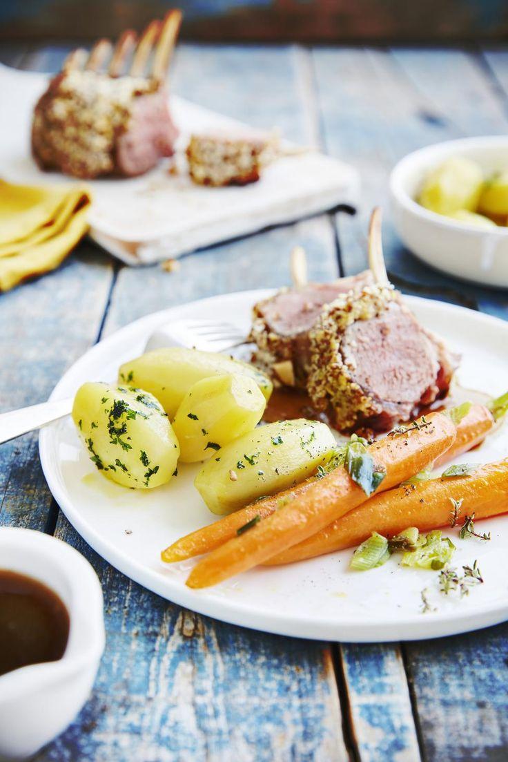 Peterselie-aardappelen met lamskroon en jonge wortelen - Libelle Lekker