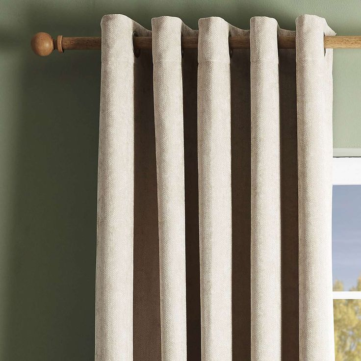 Cloudmont Natural Thermal Eyelet Curtains | Dunelm