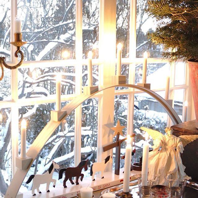 Staffansbåge, jul, adventsljusstake