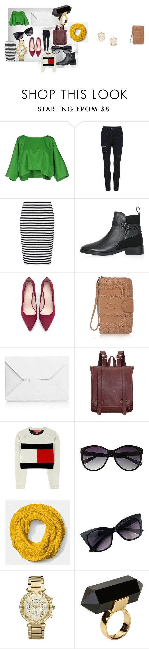 Untitled #4 by maikoyt on Polyvore featuring Tommy Hilfiger, Maison About, French Connection, Topshop, Zara, J.W. Anderson, Michael Kors, Kendra Scott, Monki and Coach