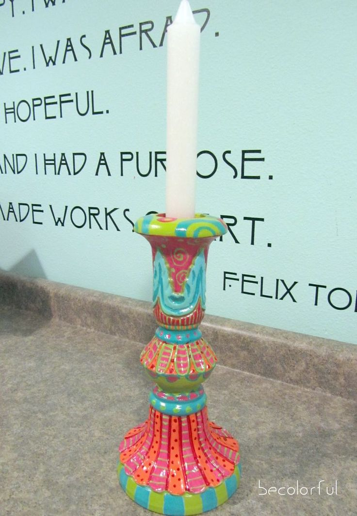 painted Candlestick