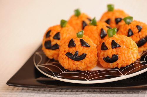 Carrot Rice Jack o' Lanterns!