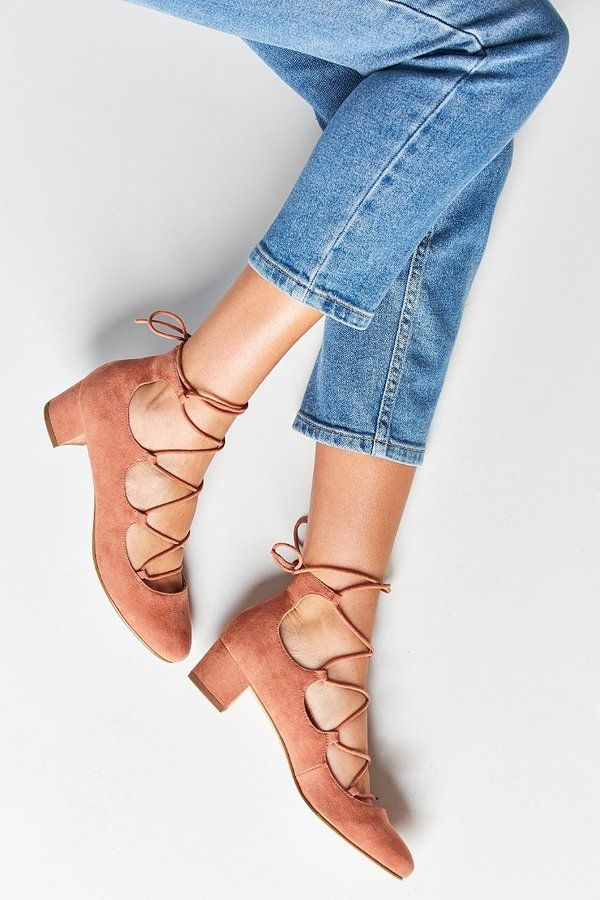 milla lace-up heel