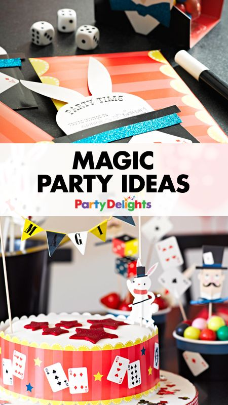Roll up, roll up for a marvellous magic party! Think white rabbits, magicians, magic wands and all the magic party ideas you need for an extra special birthday party. Perfect as a kids' party theme, we've got decorating ideas, party games, party food ideas and more.