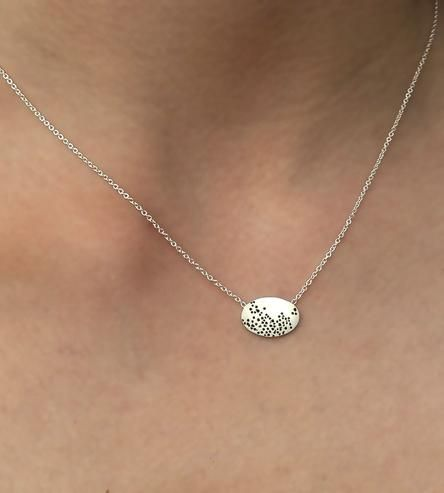 Egg Dot Sterling Silver Necklace by Emily R Studio on Scoutmob Shoppe
