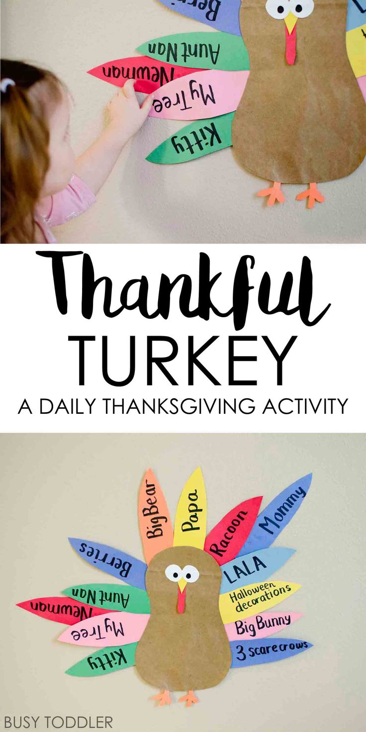 Teaching Toddlers to be Thankful: What a fun activity for Thanksgiving!