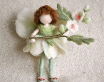 Muñeca fieltro de flor hada Waldorf aguja inspirado: por MagicWool