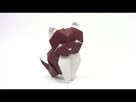Оригами кошка (Alfredo Giunta) - Yakomoga Origami tutorial - YouTube