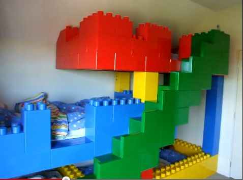 Lego Bed. Photo Only. Made Of Wood And Steel? Wonder How? Lego Bedroom  DecorBedroom ...