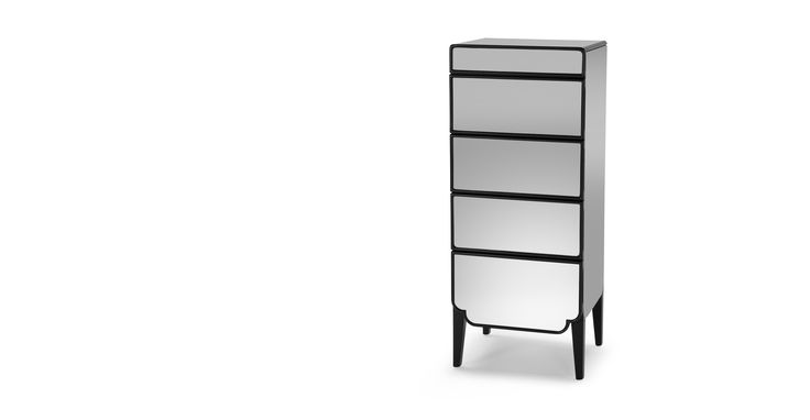 Belle Tallboy Chest of Drawers, Mirror