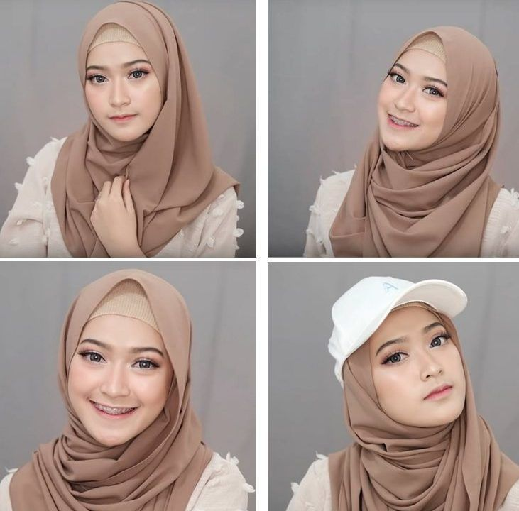 4 Style Tutorial Hijab Pashmina Simple Casual Hijab Outfit