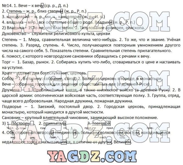 Электронное гдз по учебнику русский язык