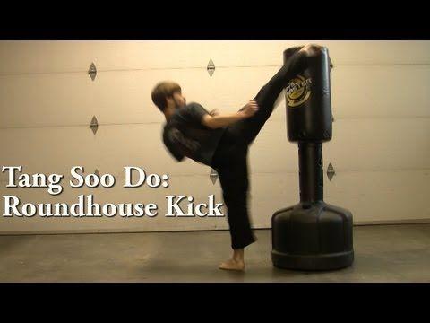 Tang Soo Do: Roundhouse Kick Tutorial - YouTube