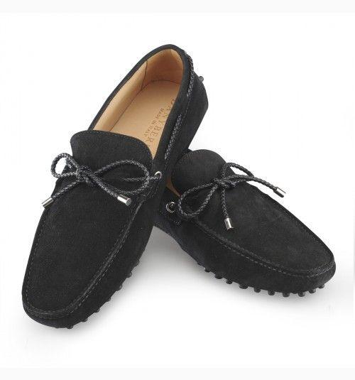 mocassin homme noir en daim chaussures homme pinterest mocassins hommes. Black Bedroom Furniture Sets. Home Design Ideas