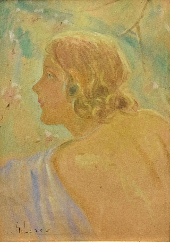 Ghelman Lazăr (1887-1975) - Profil de tânără / Profile of a young woman