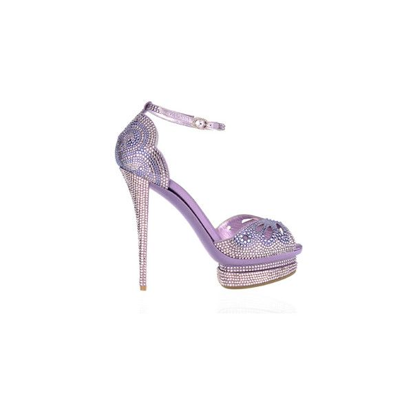 Untitled ❤ liked on Polyvore featuring shoes, sandals, heels, purple, sapatos, purple sandals, purple shoes, heeled sandals and purple heel shoes